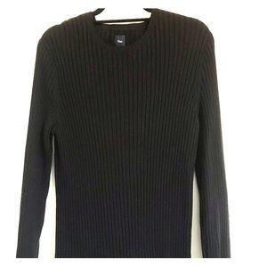 Gap Black Ribbed Crewneck Sweater